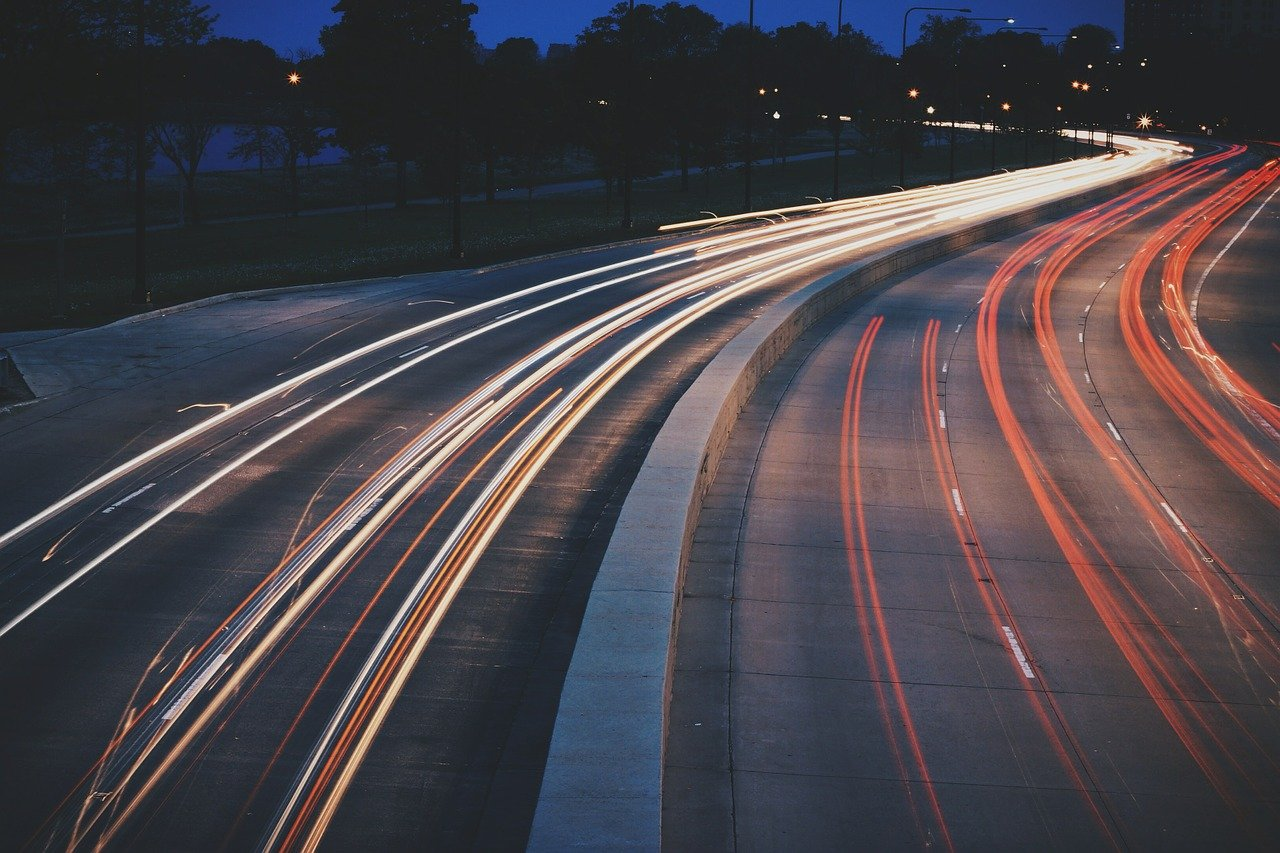 High traffic highway