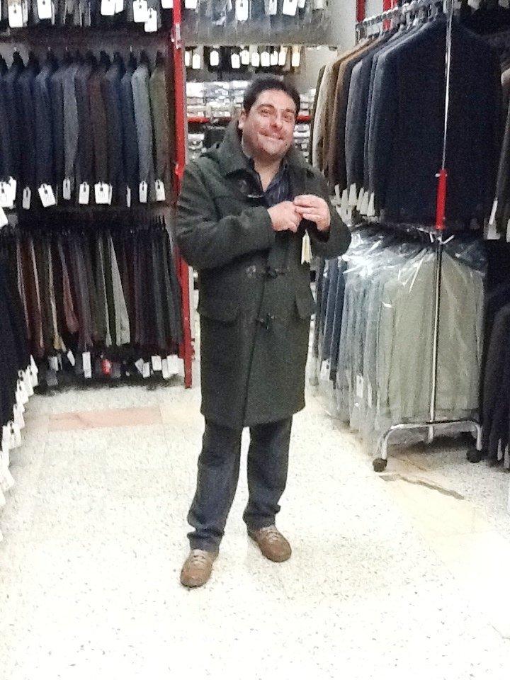 cappotto loden con cappuccio e alamari