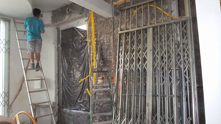 stairs being constructed