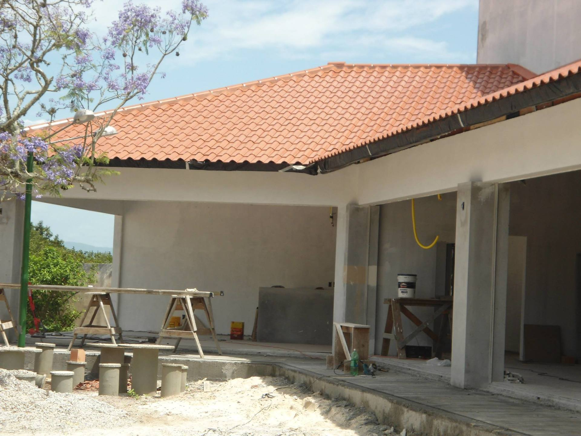 building tile roof