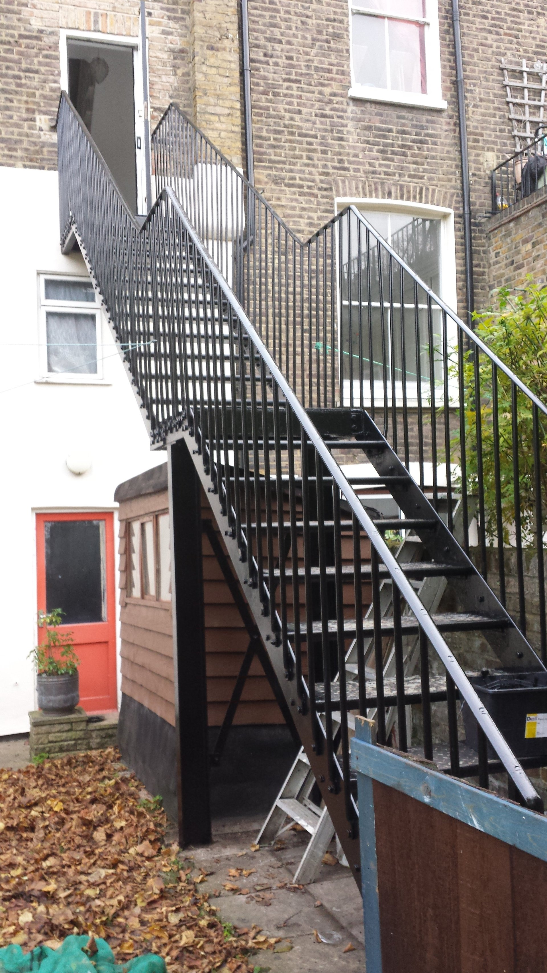 after renovating stairs