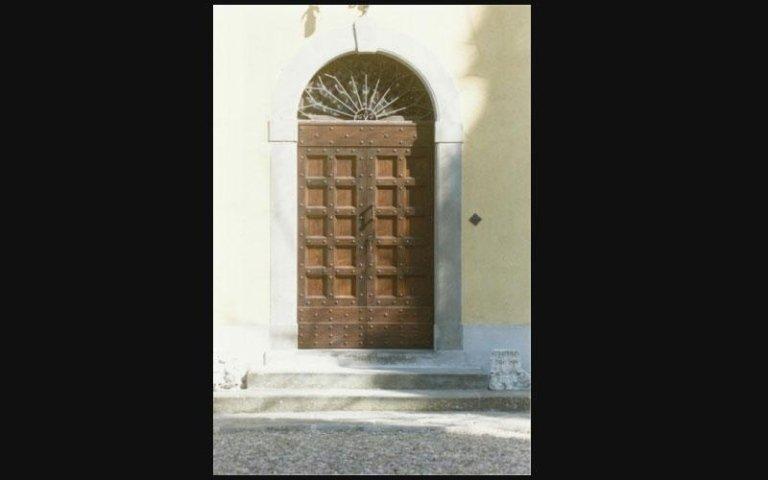 porta in legno blindata