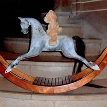 Hand carved rocking horses - Woodlove & Lovewood - Bow Rockers