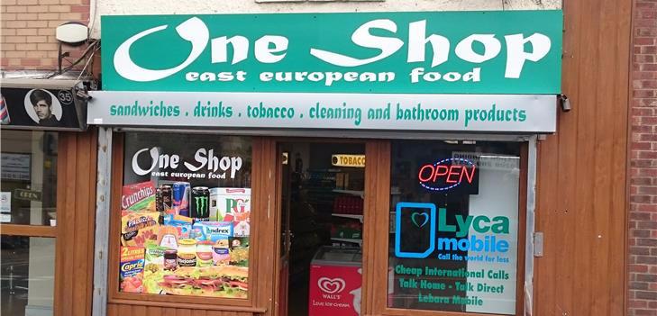 One shop shop sign