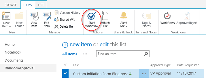 how to create a workflow form in sharepoint 2013