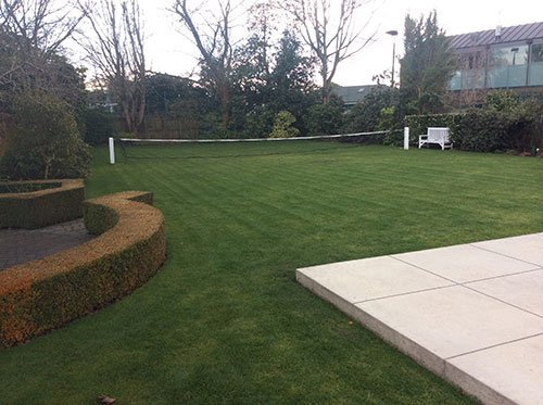 View of garden landscaping work done by expert
