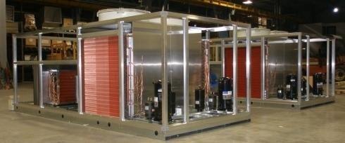 vista di impianto con produzione rooftop