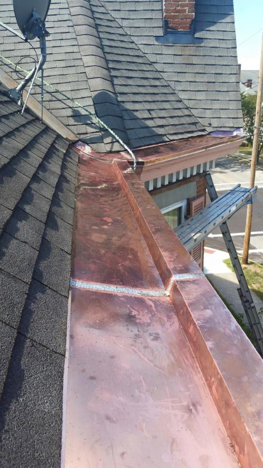 Copper gutters system