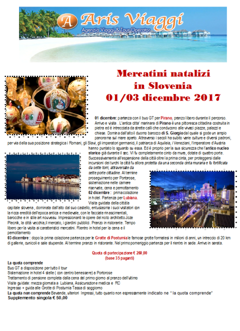 MERCATINI NATALE SLOVENIA