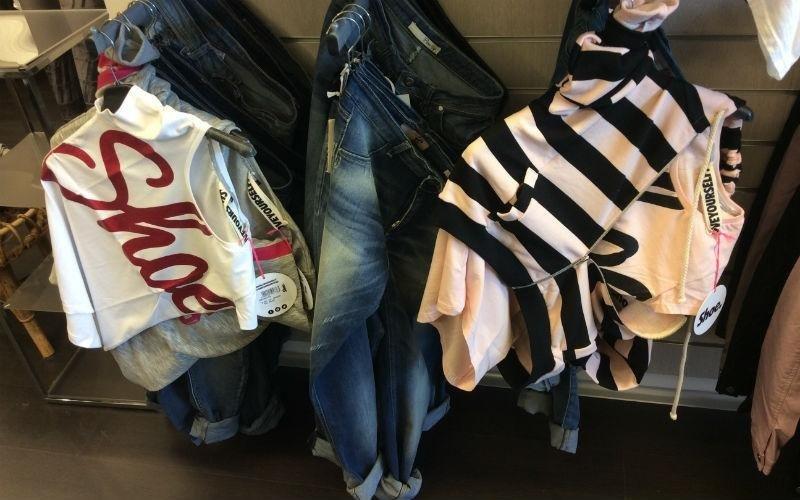 vendita felpe e jeans