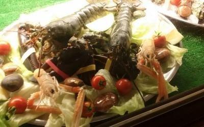 piatto di crostacei con verdure