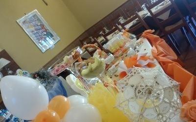 sala ricevimento allestita per una festa