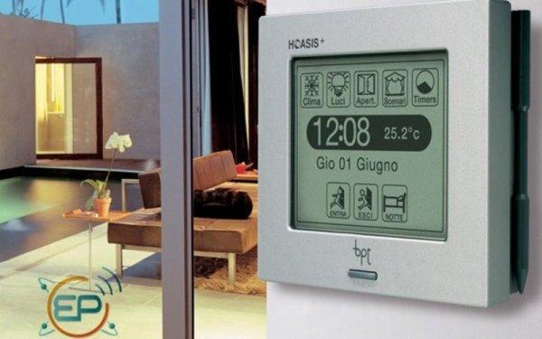 display per controllo impianto di domotica