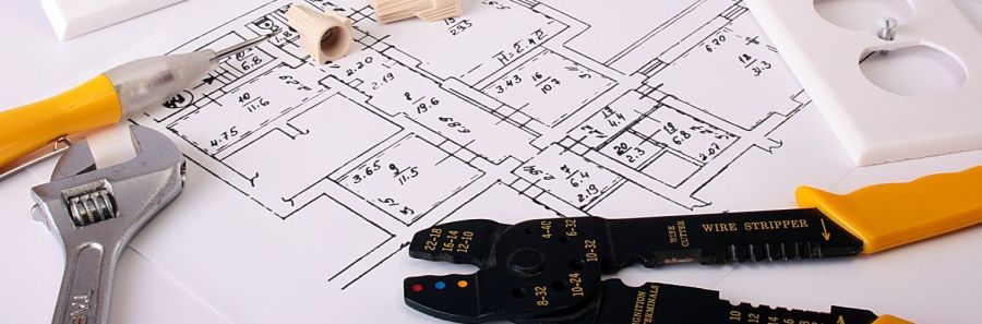 House plans and electrician tools in Auckland
