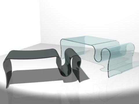 tavolinetti in vetro