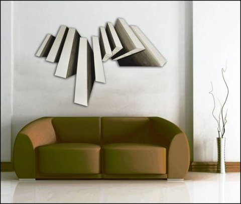 scultura in legno geometrica