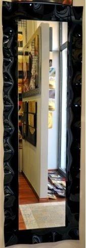 Specchio con cornice nera lucida