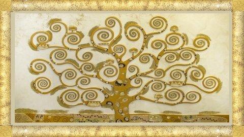 scultura in legno Klimt