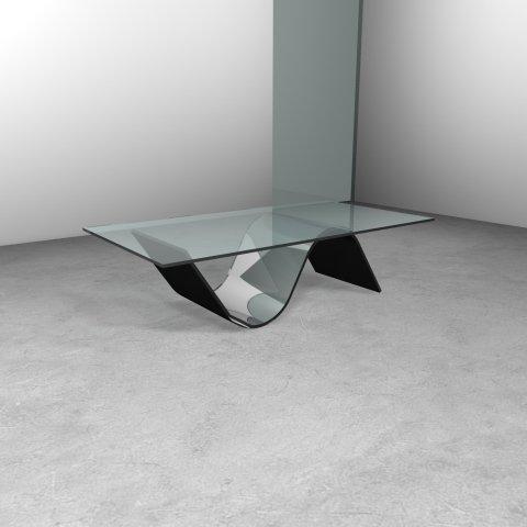 tavolo vetro e nero