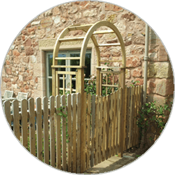 wooden arch