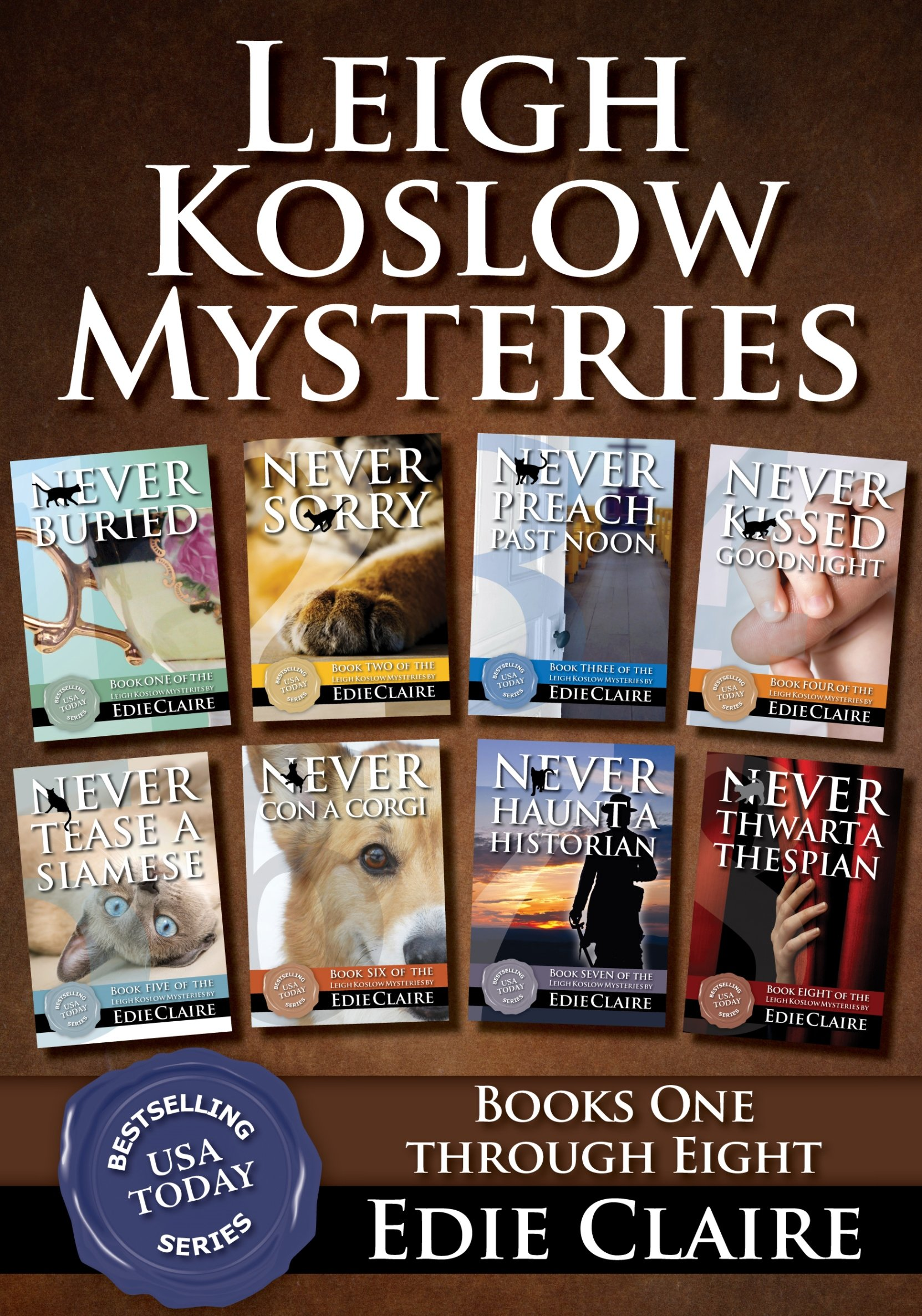 The Leigh Koslow Mystery Series Books 1-8 Cover