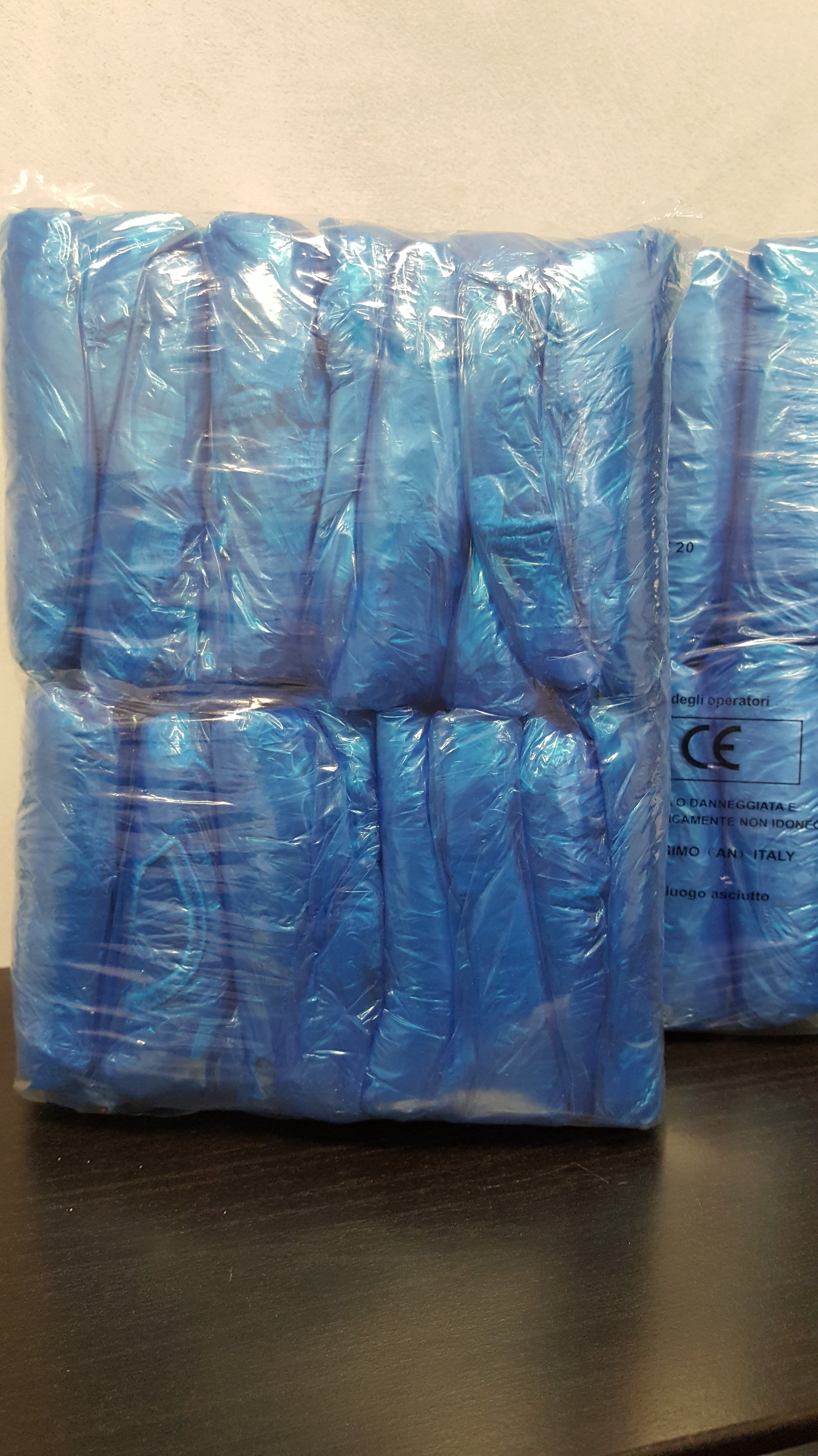 sacchetti di plastica blu