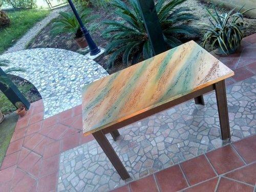 tavolino pitturato