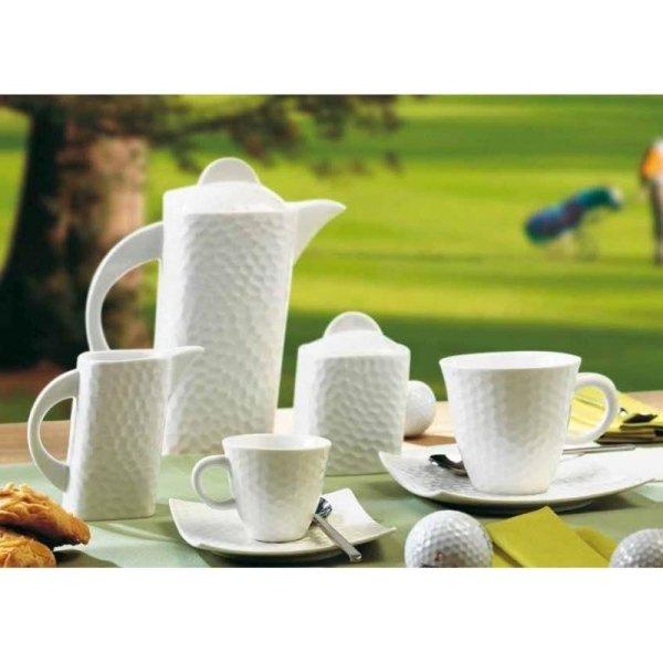 set di tazze bianco