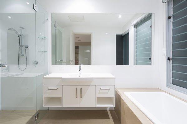 View of a big rectangular mirror