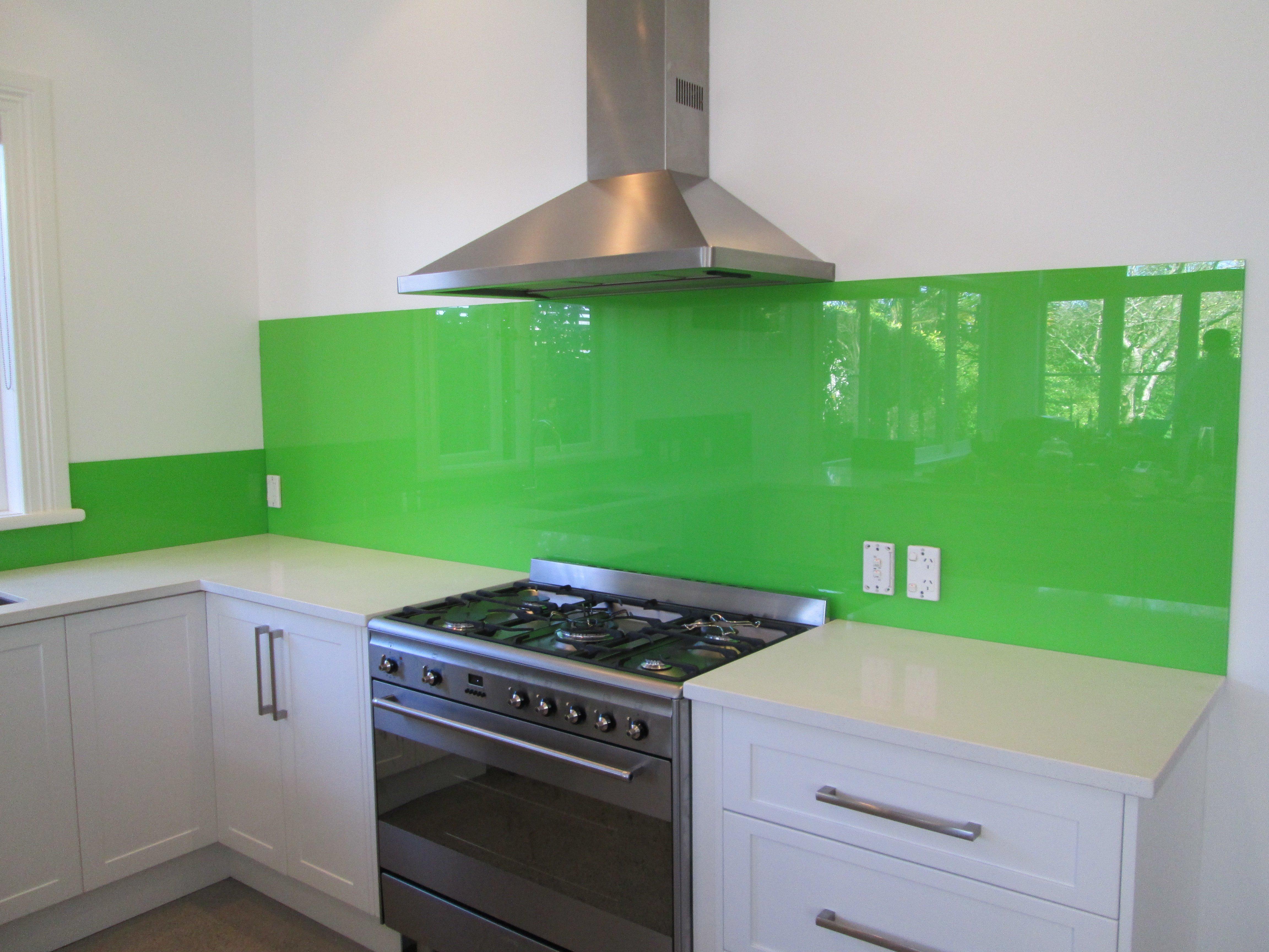 green splashbacks