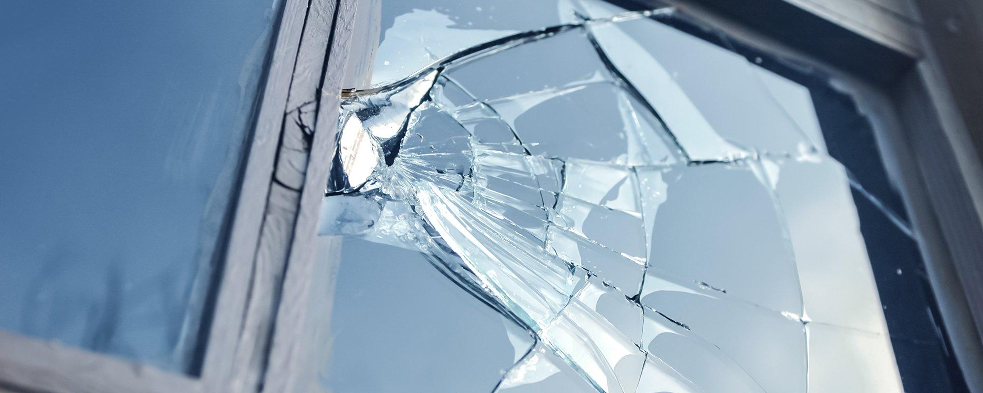 View of a broken glass
