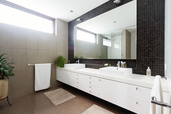 View of bathroom mirror