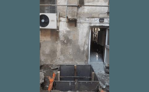 lavori di installazione di un ascensore