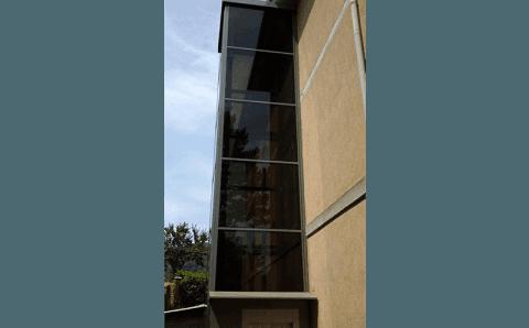 ascensore esterno a vetro
