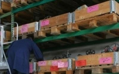 magazzino valvole industriali