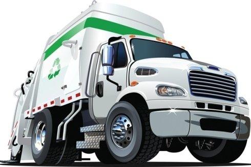 Servizio di trasporto rifiuti riciclabili.