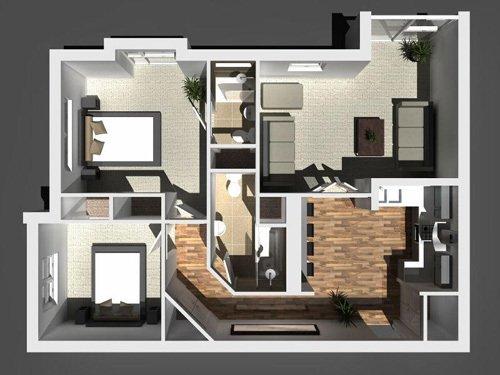 Floor plan of Boswell house
