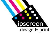 ipscreen design & print logo