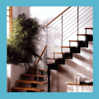 scala con corrimano design