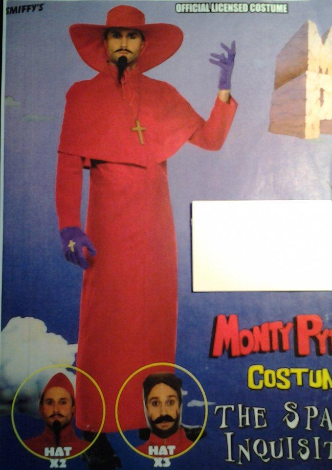 vestito carnevale da uomo cardinale
