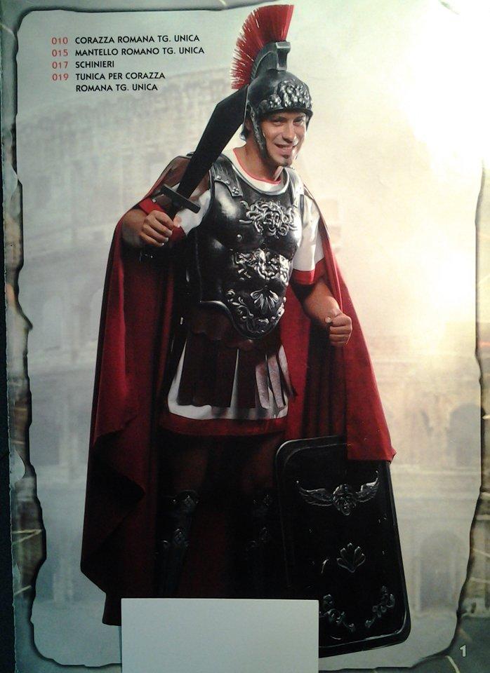 vestito carnevale uomo soldato romano