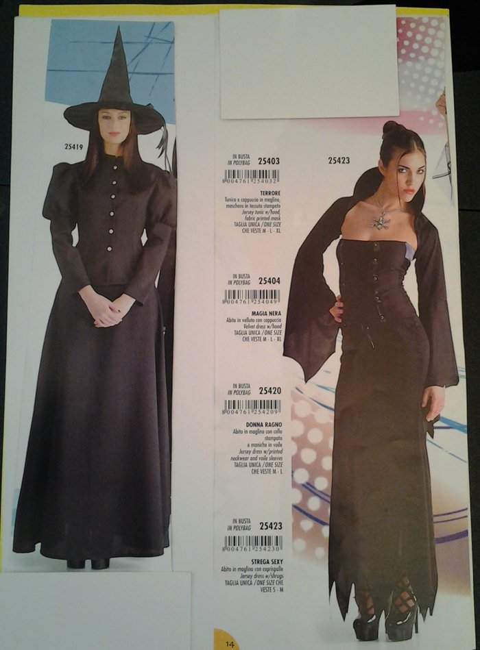vestito carnevale donna strega diversi modelli