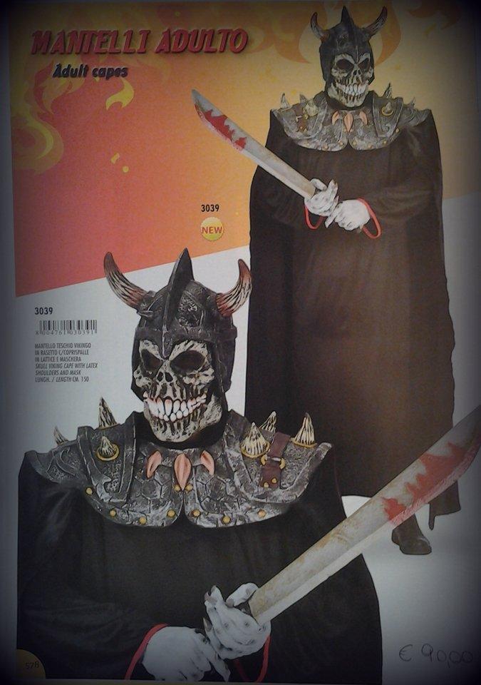 vestito carnevale uomo da scheletri assassini