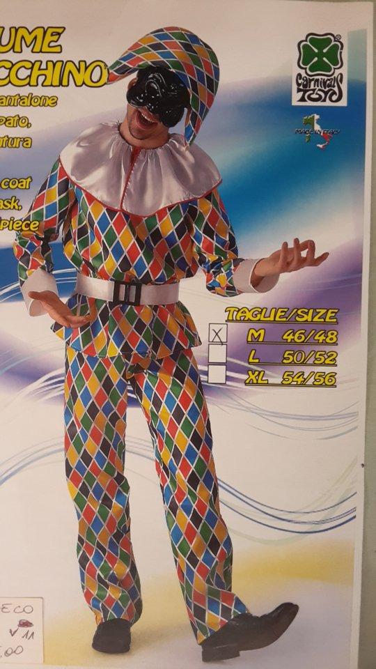 vestito carnevale uomo da Arlecchino