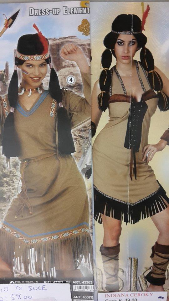 vestito carnevale donna indiana pellerossa