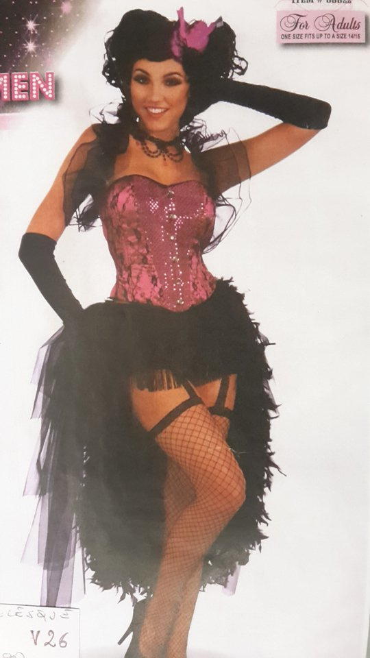 vestito carnevale donna bourlesque
