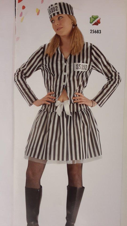 vestito carnevale donna carcerata