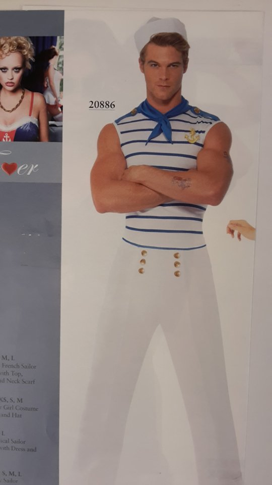 vestito carnevale uomo marinaio