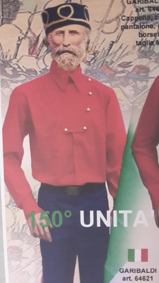 vestito carnevale Garibaldi