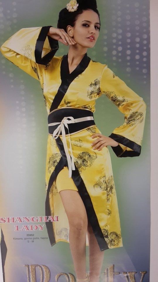 vestito carnevale donna giapponese